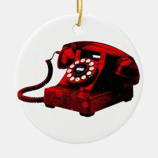 Ornamento velho da caixa de telefone da mesa do