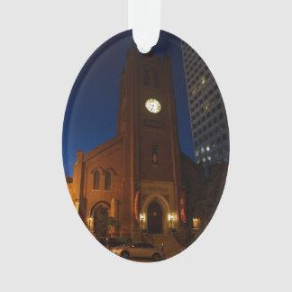 Ornamento velho da catedral de Mary de santo