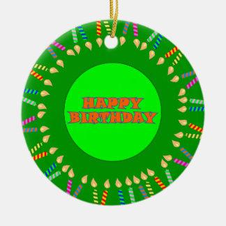 Ornamento verde do aniversário