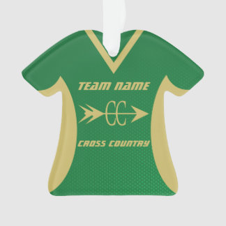 Ornamento Verde do país transversal e jérsei dos esportes do
