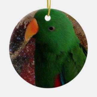 Ornamento verde do papagaio de Amazon