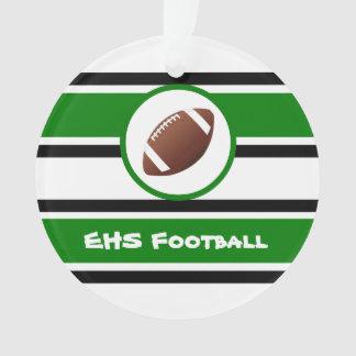 Ornamento verde e preto personalizado do futebol