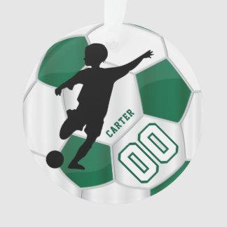 Ornamento Verde escuro e branco personalize o jogador de