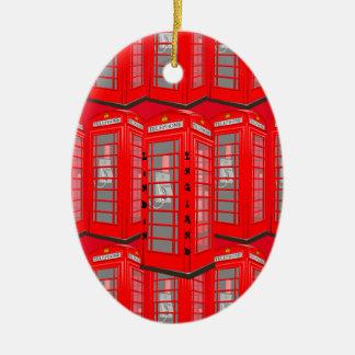 Ornamento vermelho britânico da cabine de telefone
