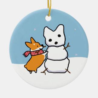 Ornamento vermelho | CorgiThings do boneco de neve