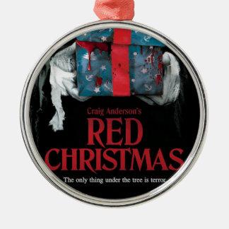 Ornamento vermelho da árvore de Natal