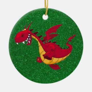 ornamento vermelho do dragão