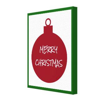 Ornamento vermelho do Feliz Natal personalizado Impressão Em Canvas