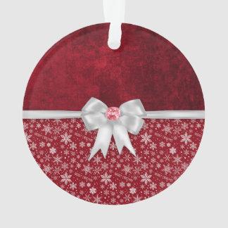 Ornamento vermelho do Grunge do rubi do Natal