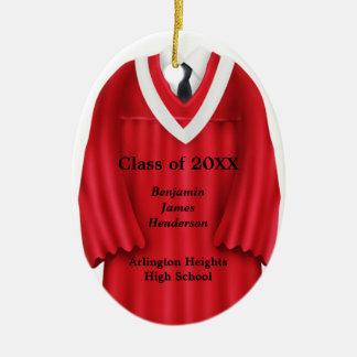 Ornamento vermelho e branco do vestido masculino