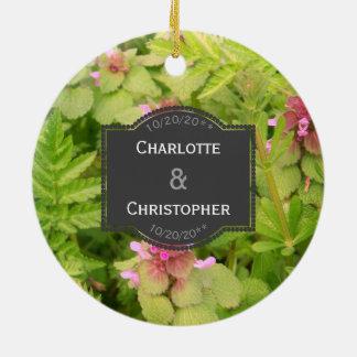 Ornamento Wedding personalizado bonito da flor