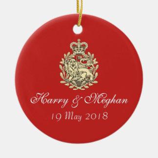 Ornamento Wedding real de Harry e de lembrança de