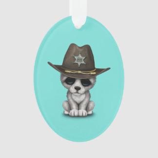 Ornamento Xerife bonito do lobo do bebê