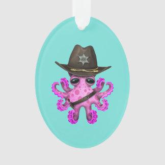 Ornamento Xerife cor-de-rosa bonito do polvo do bebê