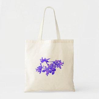 Orqu?dea ? terra matizada azul das flores bolsa para compra