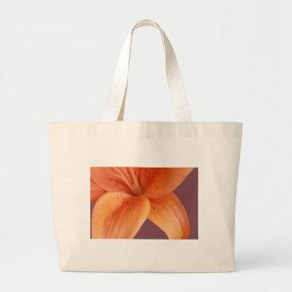 Orquídea alaranjada sacola tote jumbo