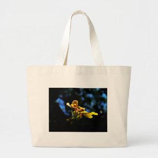 Orquídea amarela bolsa para compras