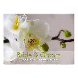 Orquídea branca • Cartão de visita do Web site do