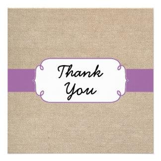 Orquídea brilhante e cartões de agradecimentos beg convite personalizado