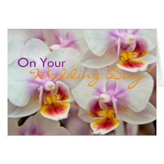 Orquídea • Cartão das felicitações do dia do
