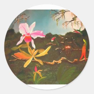 Orquídea da selva adesivo