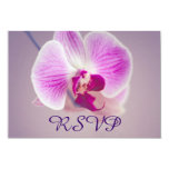 Orquídea roxa brilhante que Wedding RSVP Convites