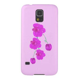 Orquídea roxa capinha galaxy s5
