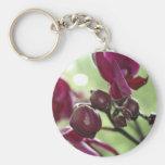 Orquídea roxa chaveiro