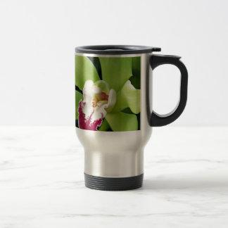 Orquídea verde caneca térmica