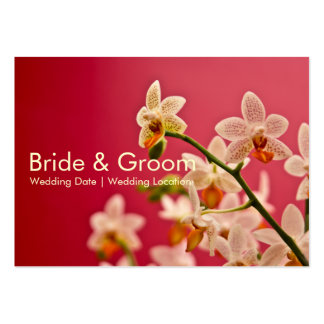 Orquídea vermelha • Cartão de visita do Web site d