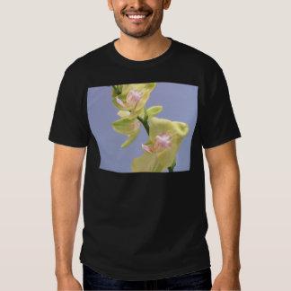 Orquídeas amarelas e cor-de-rosa na lavanda t-shirt
