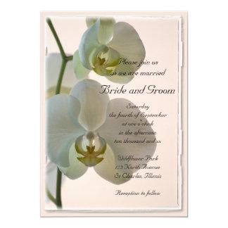 Orquídeas brancas elegantes que Wedding o convite