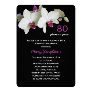 orquídeas da festa de aniversário da surpresa do convite 12.7 x 17.78cm