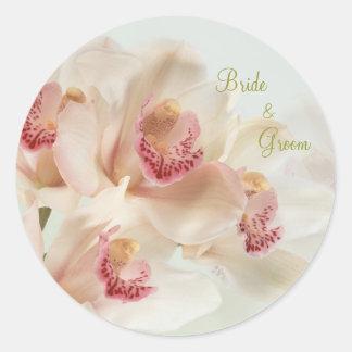 Orquídeas de creme brancas no casamento da flor adesivo