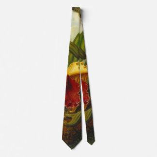 Orquídeas e colibri 1875 gravata