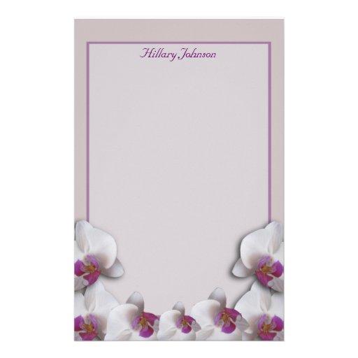 Orquídeas que Wedding artigos de papelaria