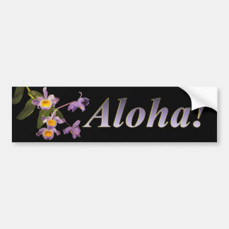 Orquídeas roxas - Aloha autocolante no vidro trase Adesivo