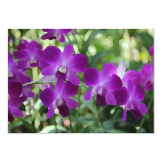 Orquídeas roxas convite & cartão