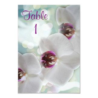 Orquídeas tropicais convite 8.89 x 12.7cm