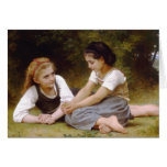 Os 1882 de Bouguereau os noisettes de Les dos Cartão Comemorativo