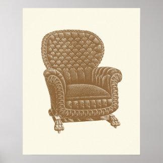Os 1900s da cadeira de Brown do balancim do Pôster