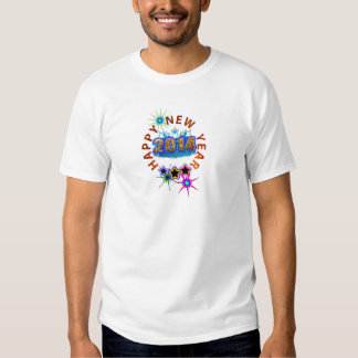 os 2014 felizes anos novos camisetas