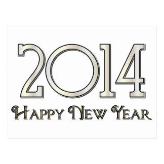 Os 2014 felizes anos novos cartão postal