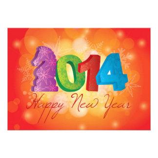 Os 2014 felizes anos novos do convite do cavalo