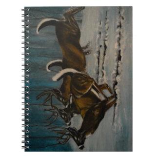 Os 3 cervos caderno espiral