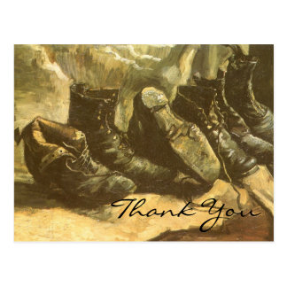 Os 3 pares de sapatos de Van Gogh Cartao Postal