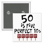os 50th presentes de aniversário, 50 são 5 10s per boton