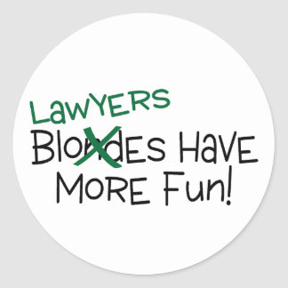 Os advogados têm mais divertimento adesivo