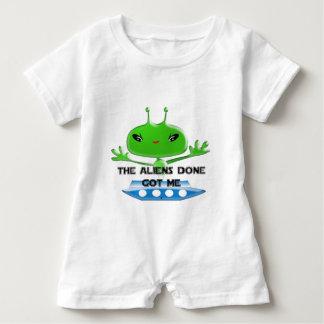 Os aliens feitos obtiveram-me macacão para bebê