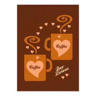 Os amantes convite do café, personalizam